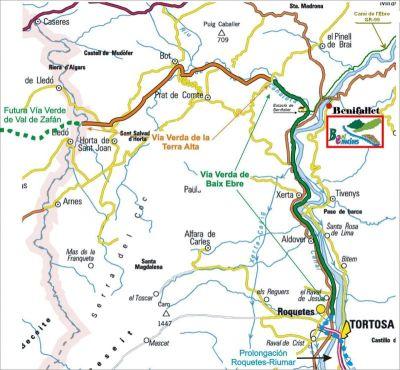 mapa Via Verda